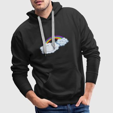 Lucky Day - Clouds With Rainbow - Cómic - Sudadera con capucha premium para hombre
