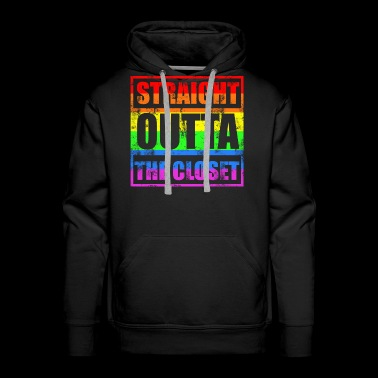 STRAIGHT OUTTA THE CLOSET Gay LGBT Pride - Men's Premium Hoodie