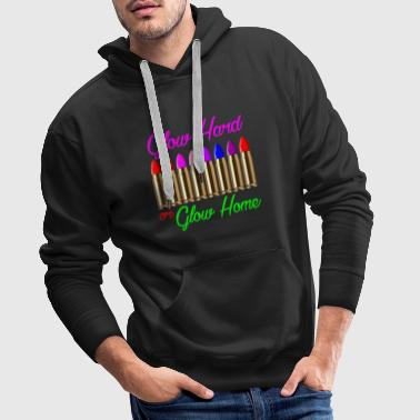 Lipstick to shine intently - Men's Premium Hoodie