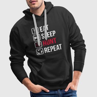 Eat Sleep Hunt Repeat - Felpa con cappuccio premium da uomo