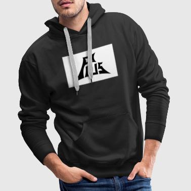 Plus black white - Men's Premium Hoodie