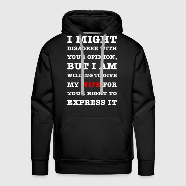 voltaire funny quote for smart-asses - Men's Premium Hoodie