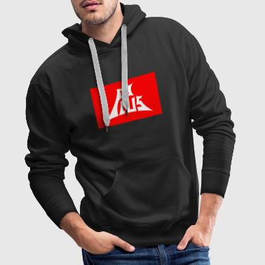 Plus red white - Männer Premium Hoodie