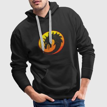 Flaming Dragon Retro - Mannen Premium hoodie