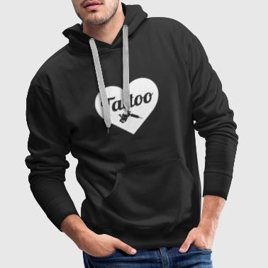 Tattoo love blanc - Sweat-shirt à capuche Premium pour hommes