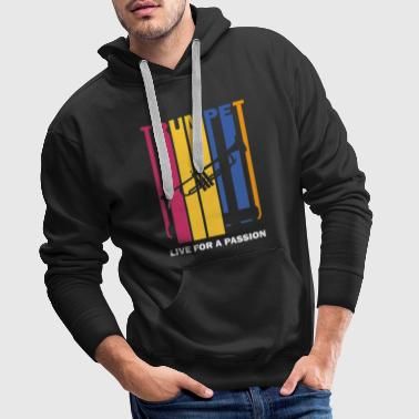 live for a passion trumpet - Men's Premium Hoodie
