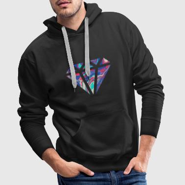 Simple colorful diamond design / symbol - Men's Premium Hoodie