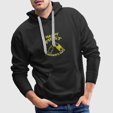 Cute First Father's Day Gift - Männer Premium Hoodie