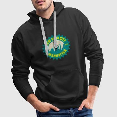 New York City Manhattan / Idée cadeau / cadeau - Sweat-shirt à capuche Premium pour hommes