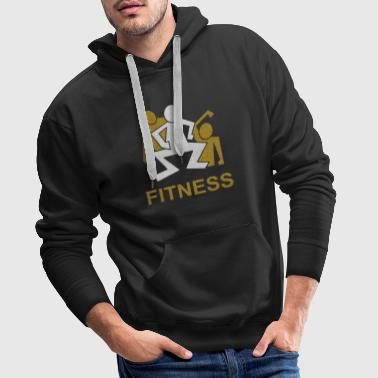 3 male squats fitness - Men's Premium Hoodie