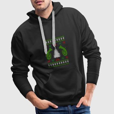 music baritone ugly christmas - Men's Premium Hoodie