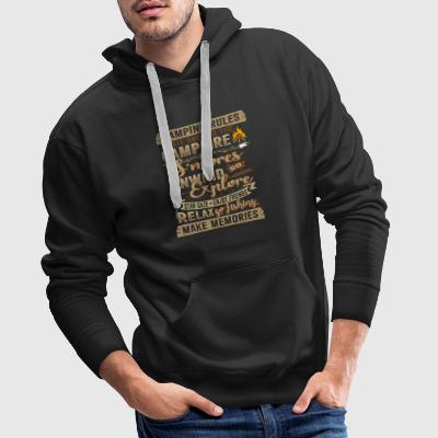 Camping fire holiday gift - Men's Premium Hoodie