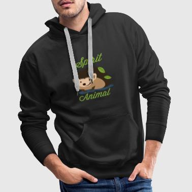Spirit Animal egel Funny Animal Shirt - Mannen Premium hoodie