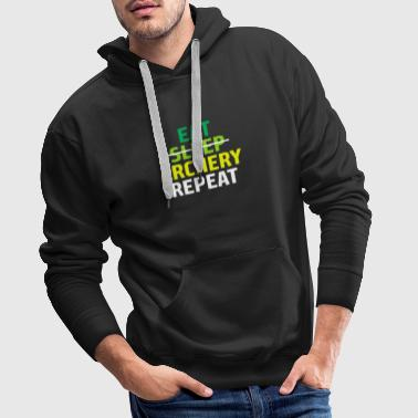 Eat Sleep Archery Repeat Gift Archer - Men's Premium Hoodie