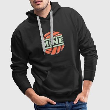 funny love mine volleyball - Männer Premium Hoodie
