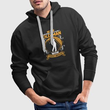Old man with golf skills - Männer Premium Hoodie