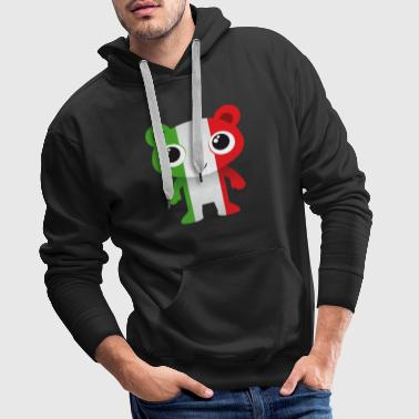 Bear in colors of the Italian flag / coat of arms - Men's Premium Hoodie