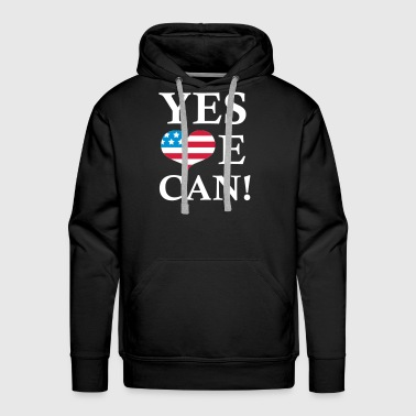 Yes We Can - President Barack Obama - Premiumluvtröja herr