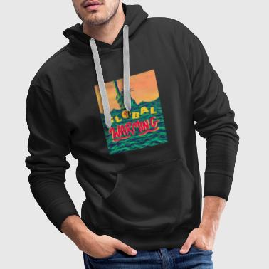 Global Warming Sunrise - Men's Premium Hoodie