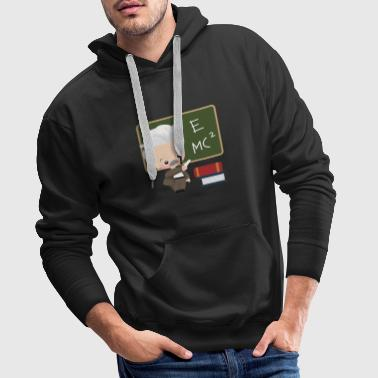 idée d'apprentissage intelligent cadeau fan Albert Einstein - Sweat-shirt à capuche Premium pour hommes