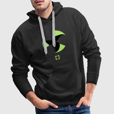 change to green Nuclear power no wind energy yes - Men's Premium Hoodie
