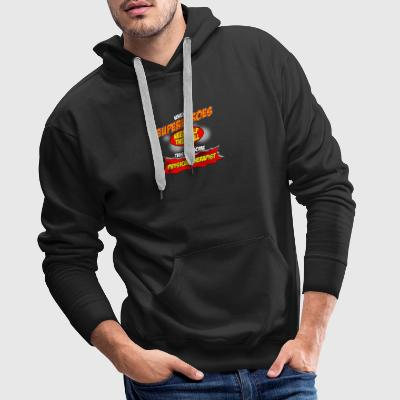 Super hero gift funny professional physiotherapist - Men's Premium Hoodie