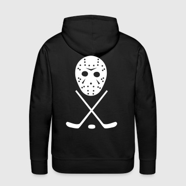 Ice Hockey Sticks, Puck and Mask - Men's Premium Hoodie