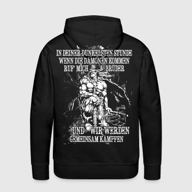 In your darkest hour call me! (bright) - Men's Premium Hoodie