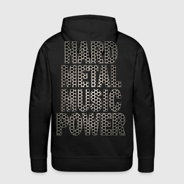 hard metal music power - Sweat-shirt à capuche Premium pour hommes