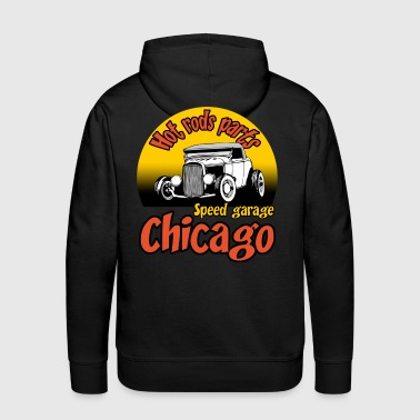 speed garage chicago - Sweat-shirt à capuche Premium pour hommes