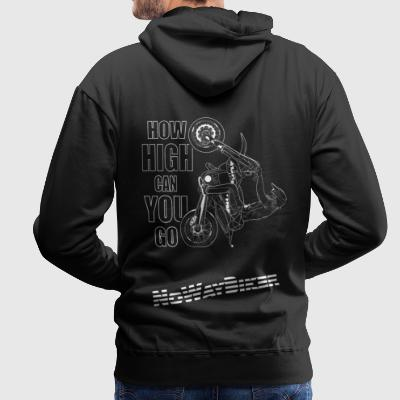 NoWayBiker - Wheelie - How High Can You Go - Men's Premium Hoodie