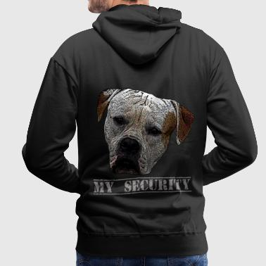 Attack dog, dog, dog head, security, guard dog - Men's Premium Hoodie
