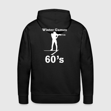 winter games 60s biathlon - Men's Premium Hoodie