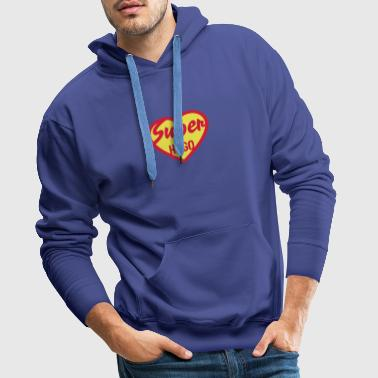 hugo super coeur heart love - Sweat-shirt à capuche Premium pour hommes