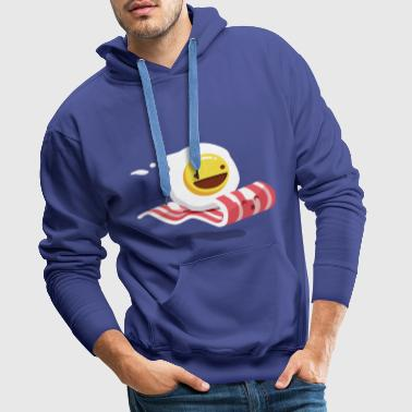 Egg Bacon Buddies - Sweat-shirt à capuche Premium pour hommes