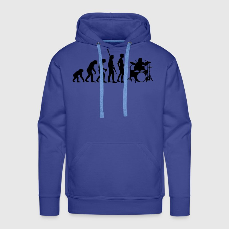 evolution_drummer_b_1c - Men's Premium Hoodie