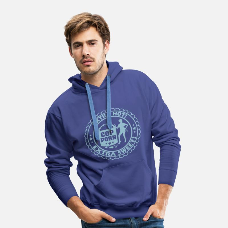 Hot Hoodies & Sweatshirts - Cop Porn Sex - Men's Premium Hoodie royal blue