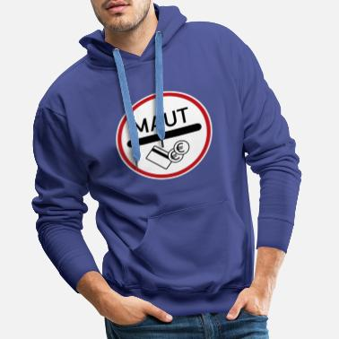 Sign 391 toll road - Men's Premium Hoodie