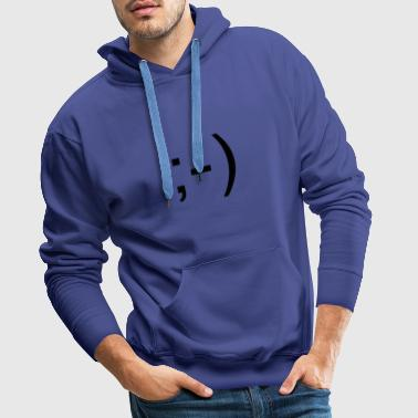 Wink smiley - Sweat-shirt à capuche Premium pour hommes
