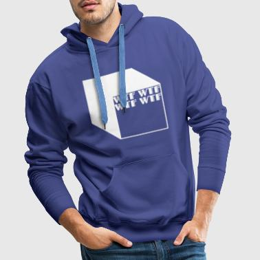 wtf logo abstract cubes - Men's Premium Hoodie