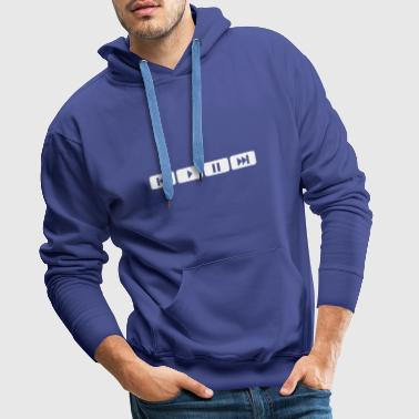 player tasten music play - Mannen Premium hoodie