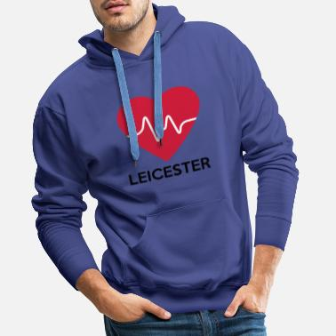 Leicester heart Leicester - Men's Premium Hoodie
