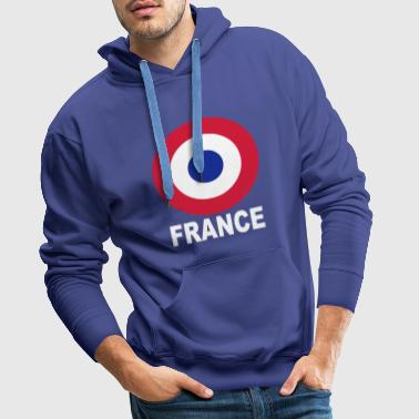 cocarde tricolore france - Sweat-shirt à capuche Premium pour hommes