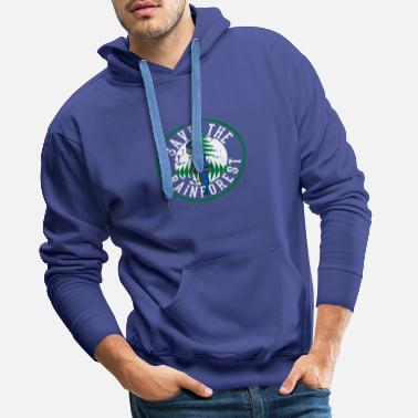 Save The Planet Save the Rainforest - Save the Animals - Primeval Tree - Men's Premium Hoodie