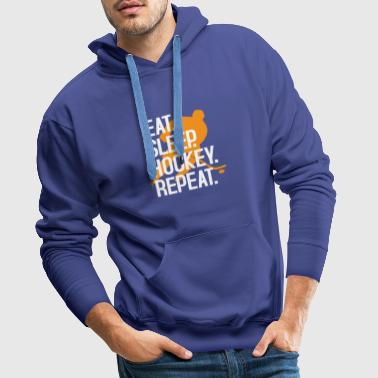 Cool Eet Sleep Hockey Repeat T-shirt - Mannen Premium hoodie