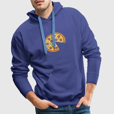 The Missing Pizza Salami - Matching Couple Love - Männer Premium Hoodie