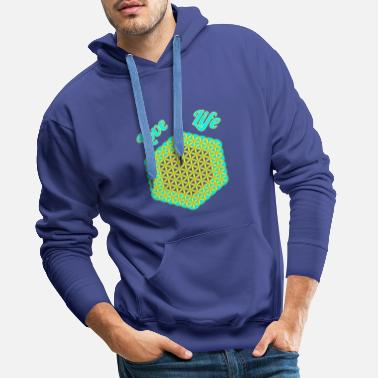 Lykke Flower of Life Love Life - Men's Premium Hoodie