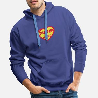 Matheo matheo super coeur heart love - Sweat-shirt à capuche Premium pour hommes