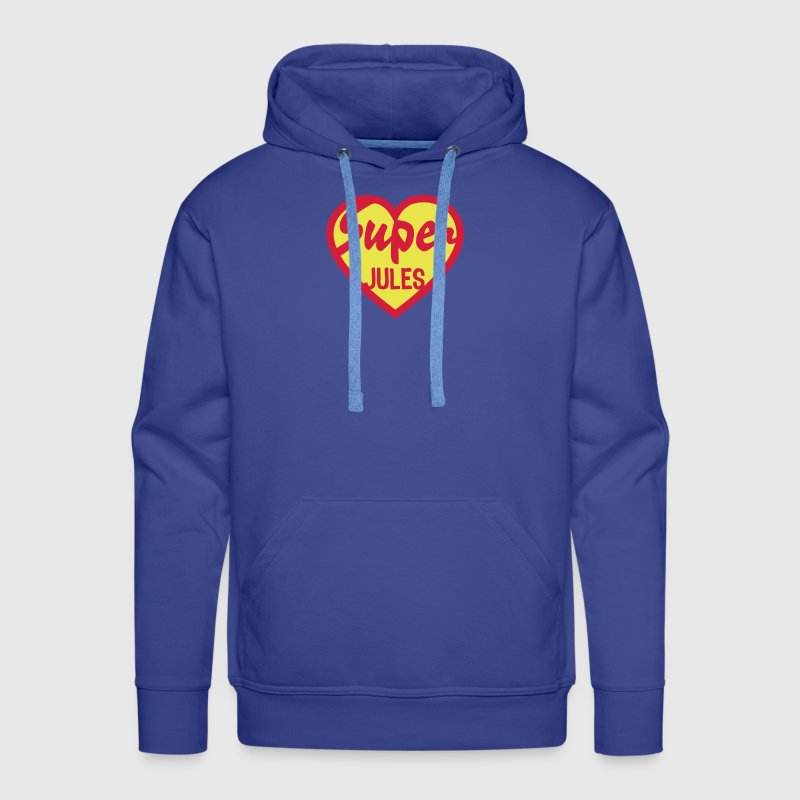 jules super coeur heart love - Sweat-shirt à capuche Premium pour hommes