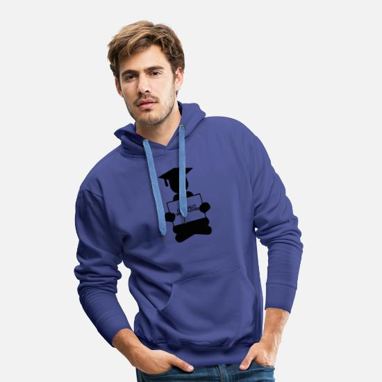 High School Graduate Hoodies & Sweatshirts - High School / Graduation: Officially Unemployed - Men's Premium Hoodie royal blue